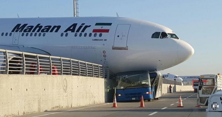 برخورد هواپیمای ماهان با اتوبوس در فرودگاه استانبول